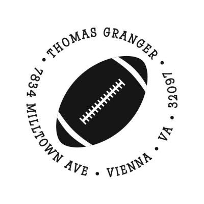 Football Address Stamp