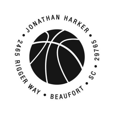 Basketball Address Stamp