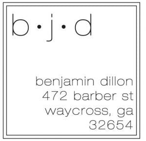 Super Simple Monogram Address Stamp