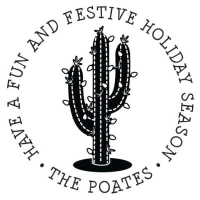 Holiday Cactus Address Stamp