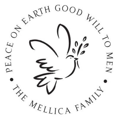 Dove of Peace Address Stamp