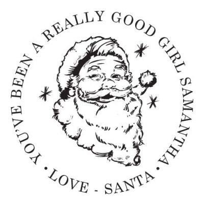 Nostalgic Santa Address Stamp