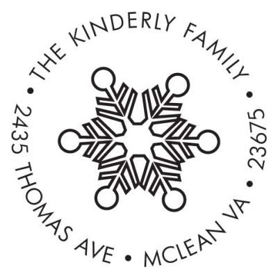 Modern Snowflake Address Stamp