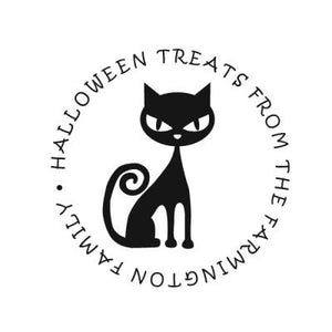 Halloween Cat Address Stamp