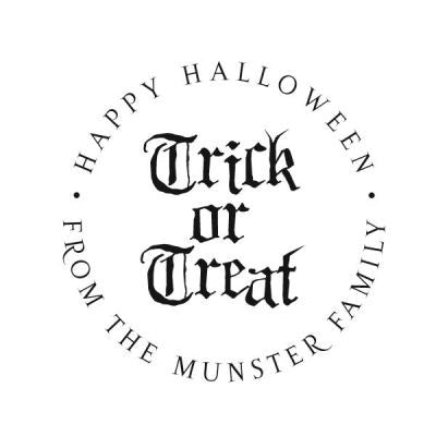 Trick or Treat Address Stamp