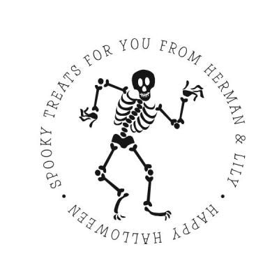 Skeleton Address Stamp