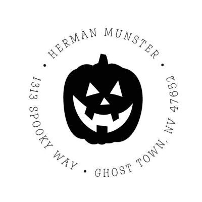 Jack-o-lantern Address Stamp