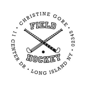 Field Hockey Address Stamp