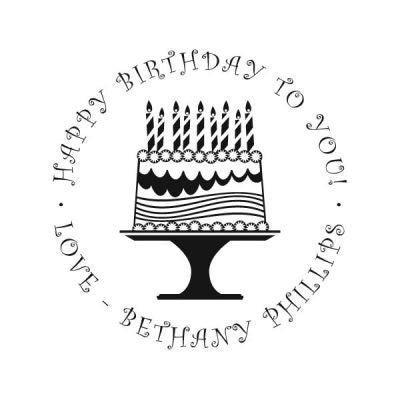 Birthday Cake Address Stamp