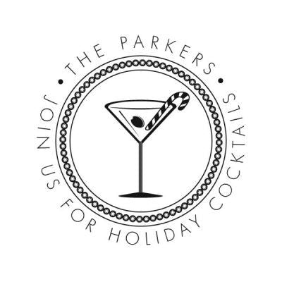 Holiday Cocktail Address Stamp