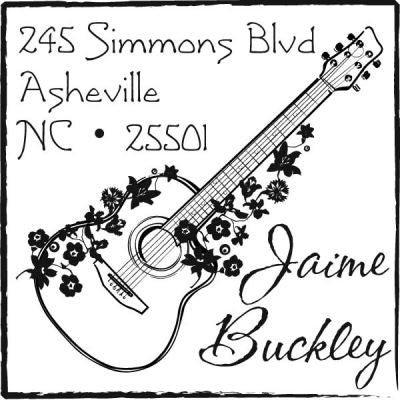 Acoustic Guitar Address Stamp