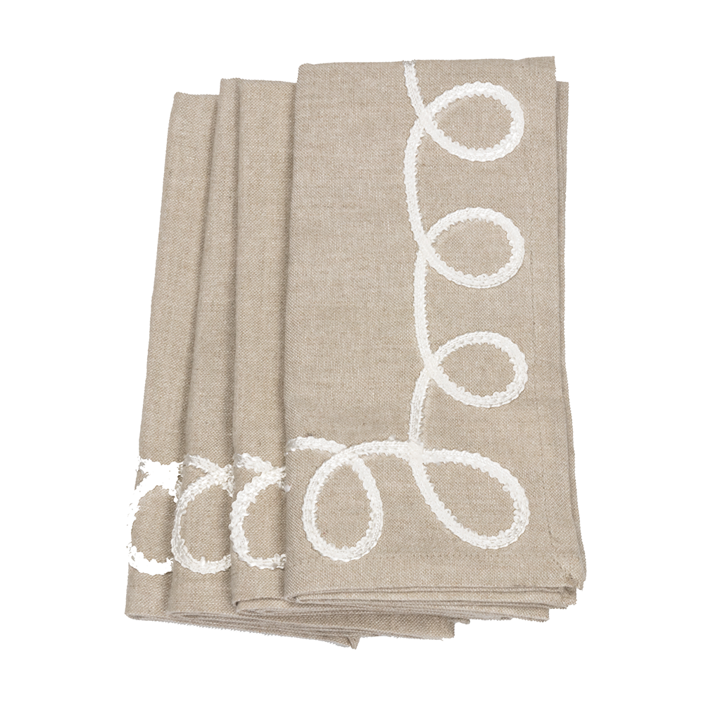 Flourish Chambray Napkin Set
