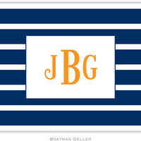 Nautical Stripe Navy & White Foldover Note