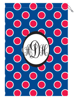 Monogrammed Ole Miss Laundry Bag for Her