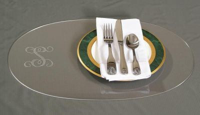 Monogrammed Oval Acrylic Placemats