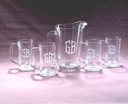 Monogrammed Tailgate Pitcher Set