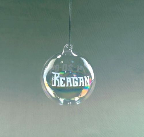 Personalized Blown Glass Ornament