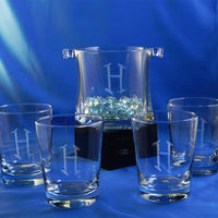 Monogrammed Capitol Ice Bucket & Glass Set