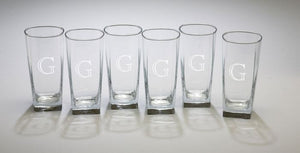 Monogrammed Set of 6 Sterling Coolers