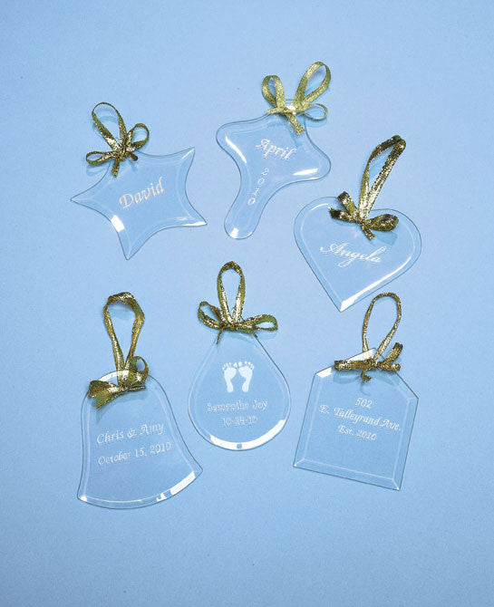 Personalized Flat Glass Ornaments