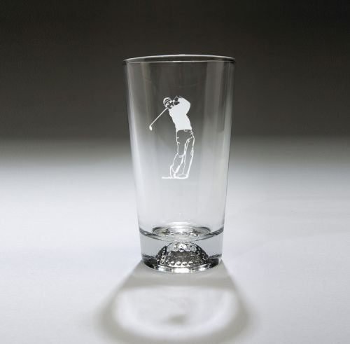 Monogrammed Golfball Pub Glass
