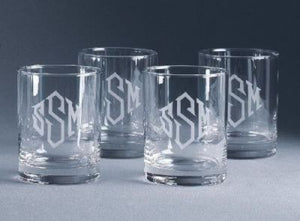 Monogrammed Classic Double Old Fashioned Glasses