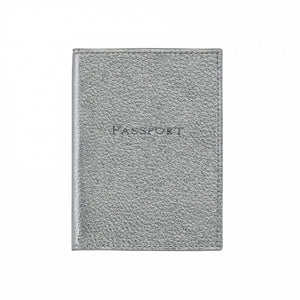 Monogrammed Metallic Leather Passport Holder
