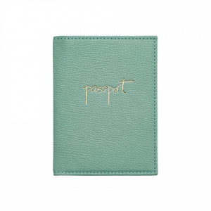 Monogrammed Leather Passport Holder