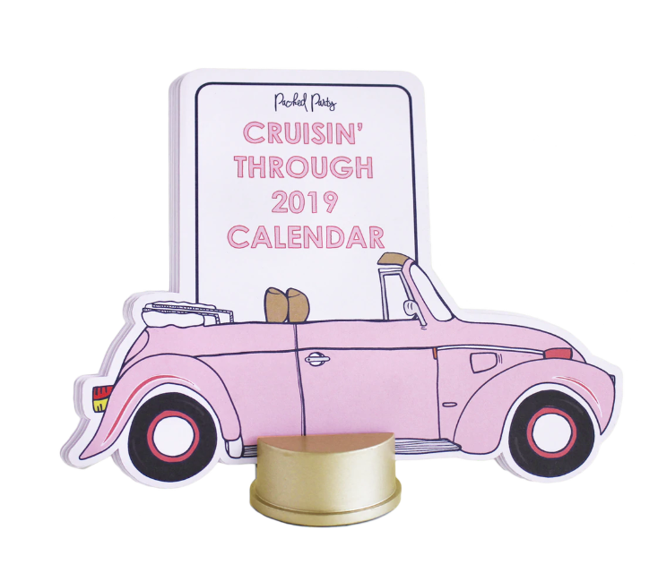 Packed Party 2019 Car Calendar