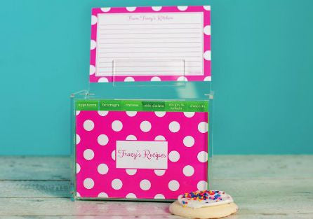 Shocking Pink Dot Recipe Box Set