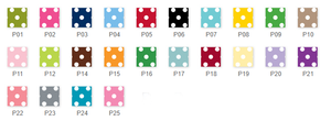 Swiss Dot Folded Notes (20+ Colors)