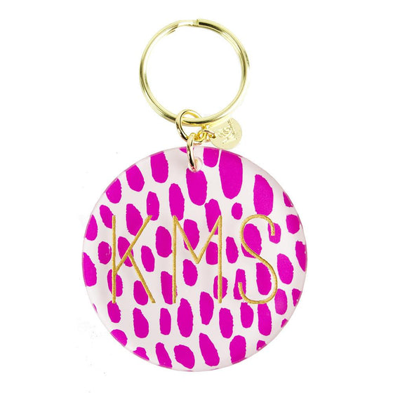 Patterned Modern Block Keychain