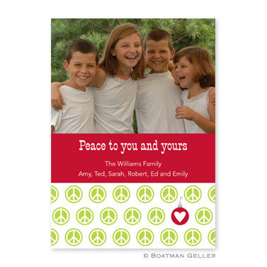 Peace Repeat Holiday Photocard
