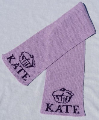 Personalized Scarf with Name & Cupcake