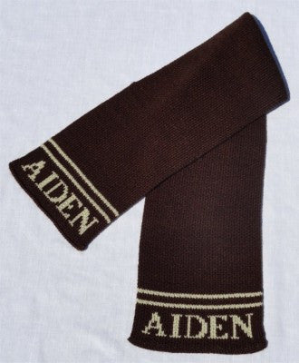 Personalized Scarf with Name & Double Line