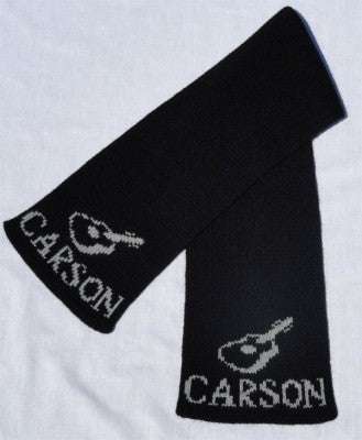 Personalized Scarf with Name & Guitar