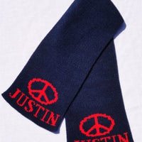 Personalized Scarf with Name & Peace