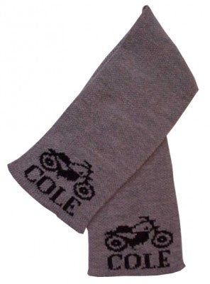 Personalized Scarf with Name & Vintage Motorcycle