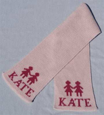 Personalized Scarf with Name & Paperdolls