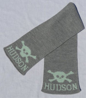 Personalized Scarf with Name & Skull & Crossbone