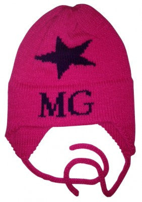 Personalized Star Hat with Earflaps