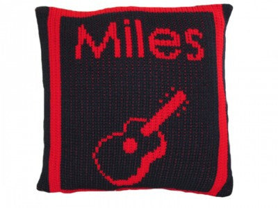 Pillow with Guitar