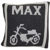 Pillow with Motorcycle