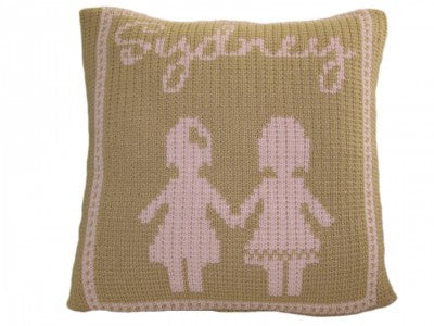Pillow with Paperdolls
