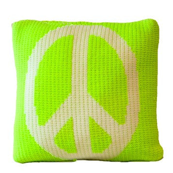 Pillow with Peace Design