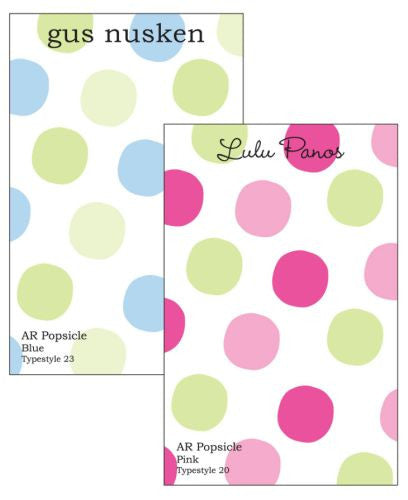 Personalized Popsicle Notepad Collection