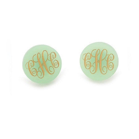 Monogrammed Providence Post Earrings