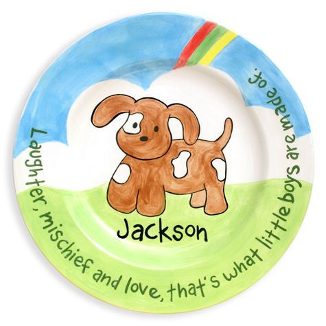 Personalized Puppy Plate (Boy)