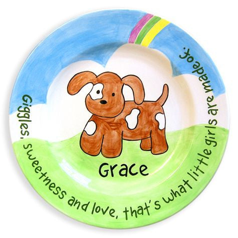 Personalized Puppy Plate (Girl)