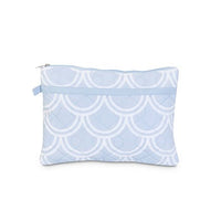 Personalized Harbor Bae Baby Blue Quilted Zipper Bag